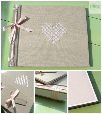 Embroidered wedding album