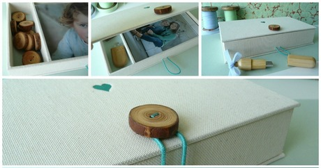 New!! Little box for USB pen drive and photos