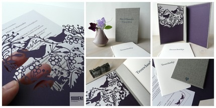 Marriage certificate book with wedding card